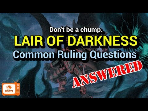 Lair of Darkness Rulings -  Questions Answered