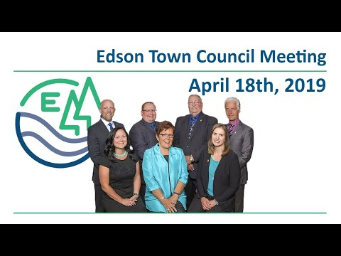 Edson Town Council Meeting live from Holy Redeemer High School - April 18th, 2019