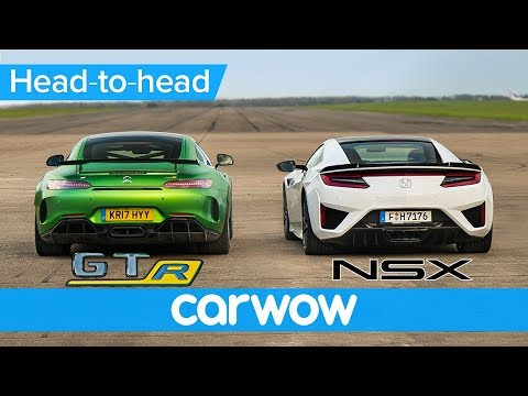 Honda (Acura) NSX vs Mercedes-AMG GT R – DRAG RACE, ROLLING RACE & BRAKE TEST