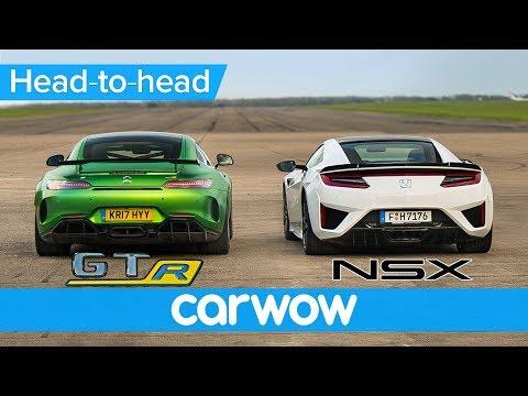 Honda  (Acura) NSX Vs Mercedes-AMG GT R –DRAG RACE, ROLLING RACE & BRAKE TEST | Head-to-Head