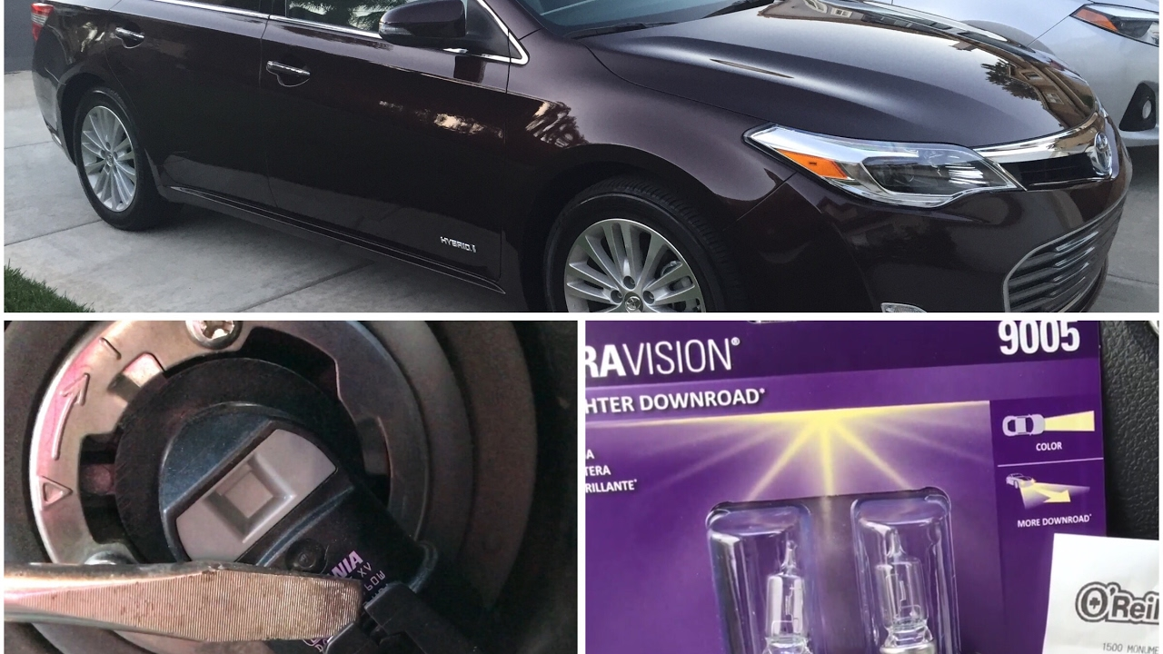 How To Replace Headlight Bulb On Toyota Avalon 2017 Repair