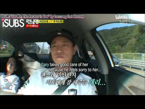 RM Funny Song Ji Hyo and Kang Gary Monday Couple talk in Car about SNSD