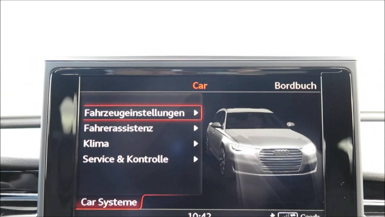 Audi Rs6 Facelift 2014 Mmi Fahrzeugeinstellungen Youtube