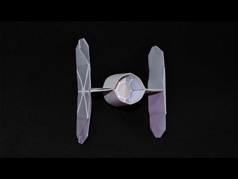 origami spaceship star wars tie fighter youtube