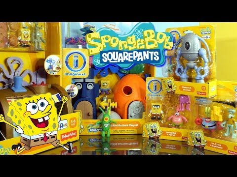 Thumbnail: Play Doh Plankton Spongebob Squarepants Imaginext Playset Toys Super Unboxing - Disney Cars Toy Club