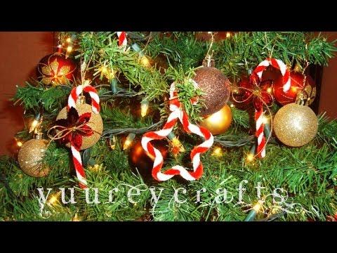 Baston estrella candy cane star manualidades adornos navide os diy yuureycrafts - Adornos navidenos diy ...