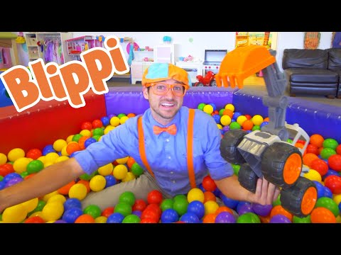 Blippi Fun and Learning at The Fidgets Indoor Playground For Kids | 1 Hour Of Blippi Learning Videos