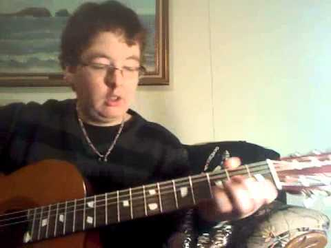me showing you how to play 'mama said' by 'tallica on classical guitar