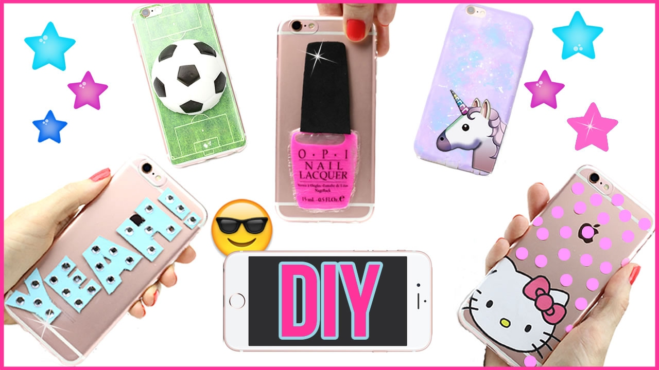 99dfda10c 5 DIY Phone Case Designs! How To Make Liquid, Stress Ball, Hello Kitty,  Galaxy-Easy Phone Cover DIYs - YouTube