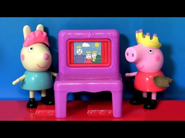 Play Doh Peppa Pig Puppet Show & Rebecca Rabbit Playing in PlayDoh Muddy Puddle by DisneyCollector Travel Video