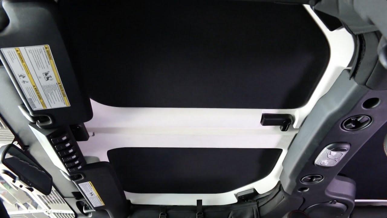 hothead headliners jeep wrangler installation [ 1280 x 720 Pixel ]