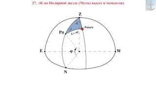 27. ∆К по Полярной звезде (Метод высот и моментов)