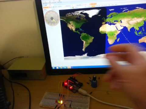 Arduino automatic ham4 rotator controller for HRD