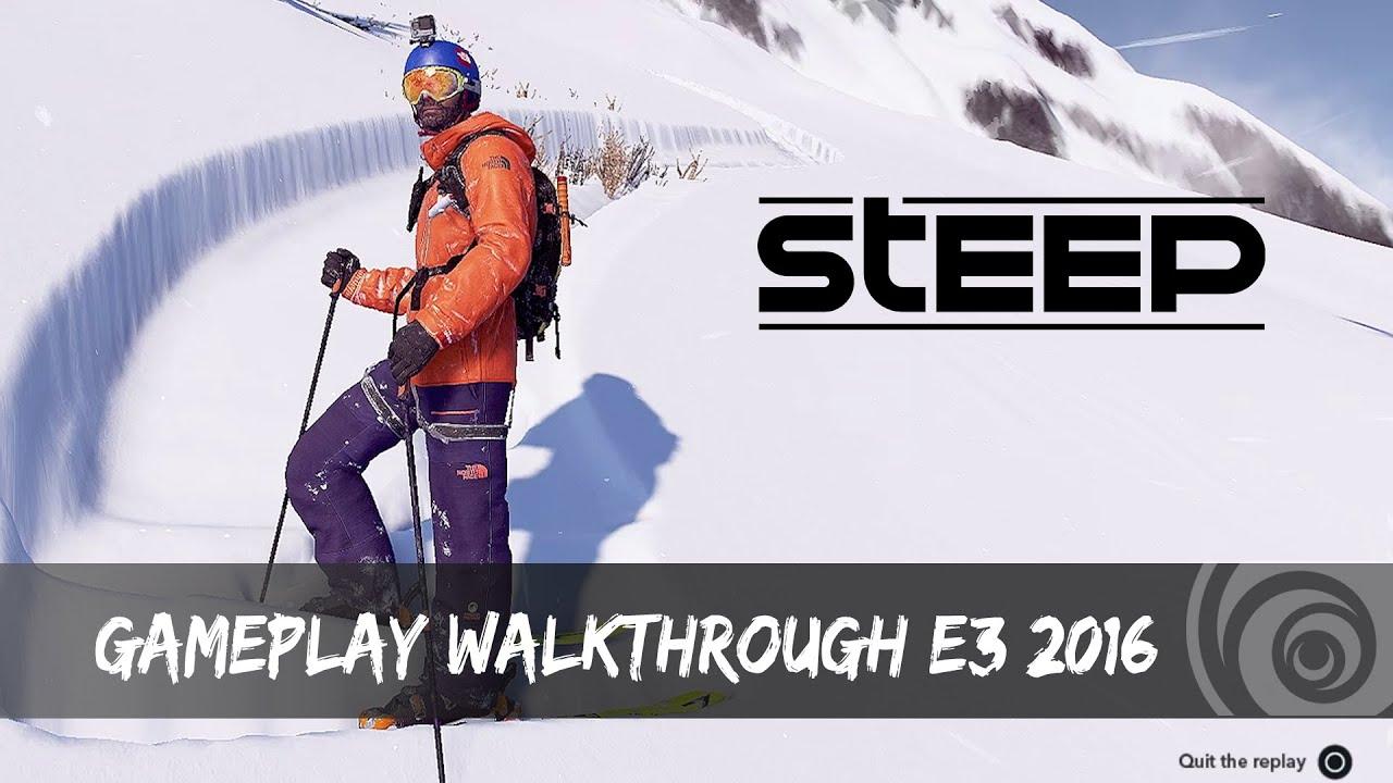 Steep Gameplay Walkthrough E3 2016 Youtube