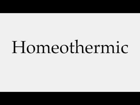 How to Pronounce Homeothermic