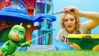 PJ Masks auf Deutsch. Der Aufzug ist kaputt. Video für Kinder.