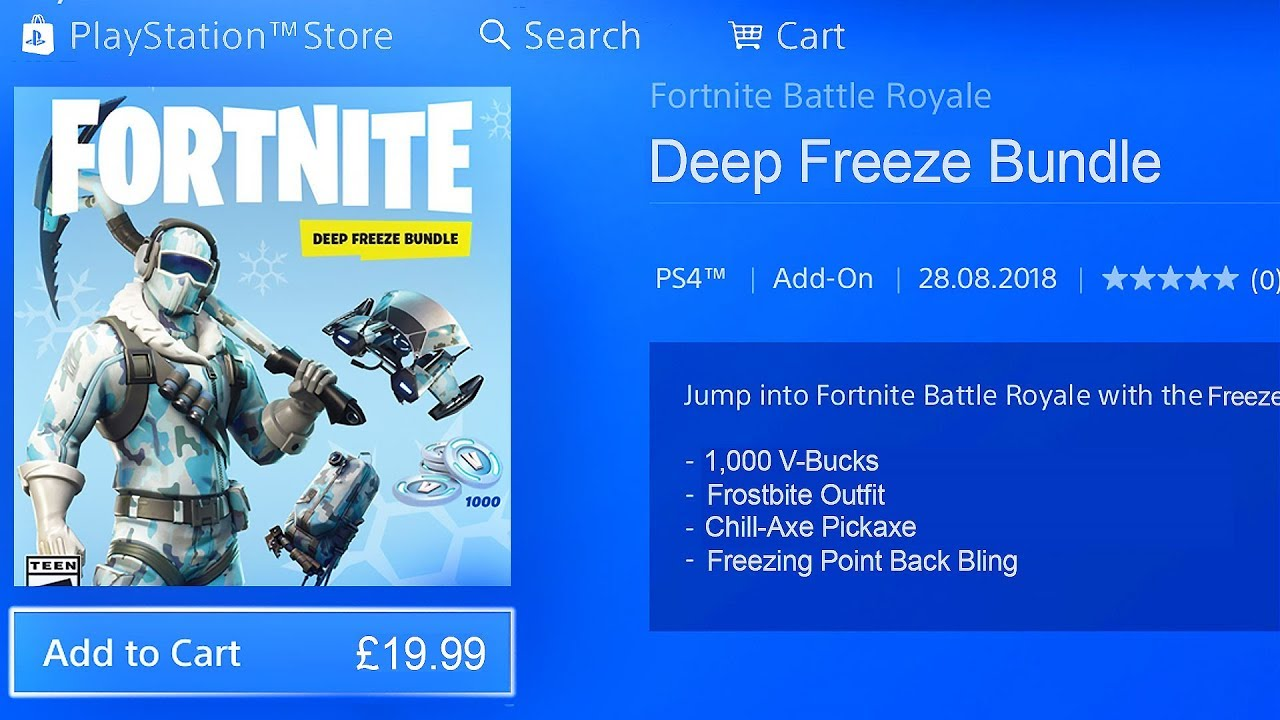 New Deep Freeze Bundle In Fortnite How To Get The Deep Freeze
