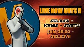 Fortnite , Give away 100 abonné starter pack bwt 5 orang(readesc) - Kahlil Bintang's Live Stream