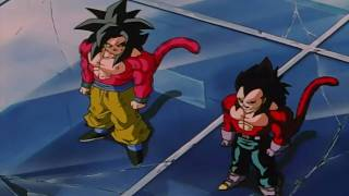 dragonball gt goku vegeta fuse gogeta ssj4 remastered 720p hd original