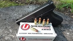 9mm +P+ Underwood Gold Dot 124 gr Ammo Gel Test