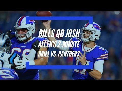 NFL Preseason 2018: Bills QB Josh Allen in the 2-minute Drill