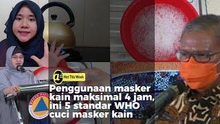 Lima cara mencuci masker kain dengan baik dan benar