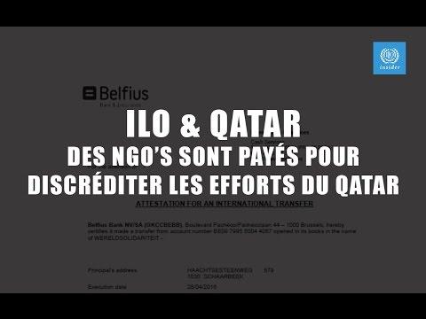 ILO / ITUC & Qatar - Documents sur les montants versés à des NGO