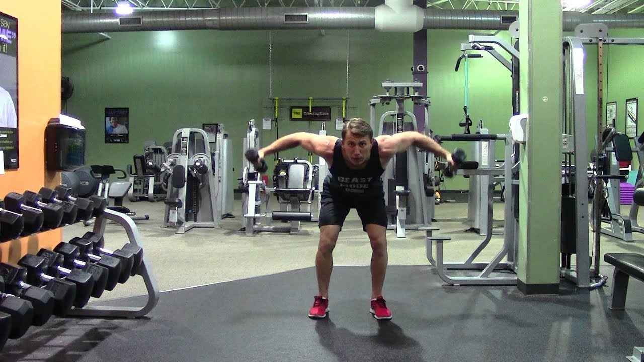 Dumbbell Rear Delt Fly - HASfit Rear Deltoid Exercise ...