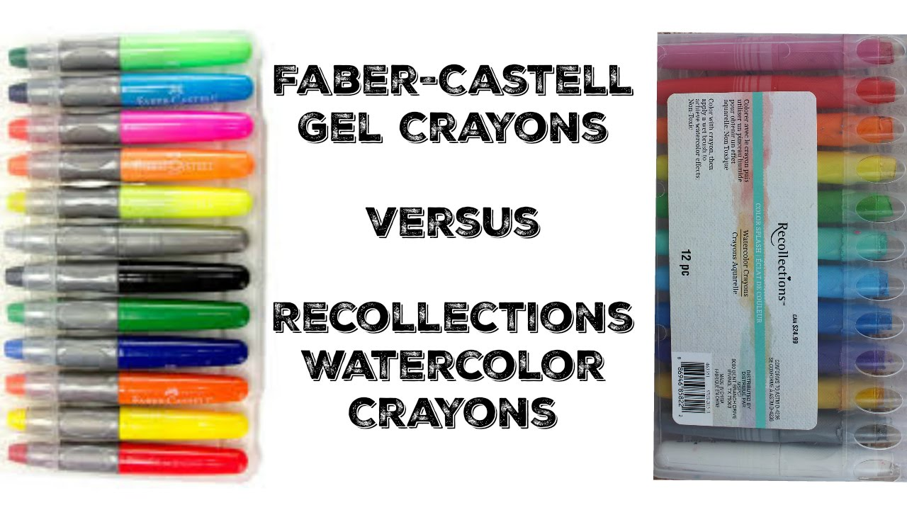 faber castell gel crayons vs watercolor crayons youtube
