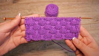 Рельефный узор спицами с эффектом клоке | Kloke knitting pattern
