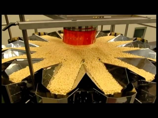 Snacks, Soya Crisps, Flips, Popcorn, Multihead weigher/Mehrkopfwaagen, Yamato Scale