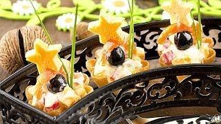 Тарталетки с крабовым салатом рецепт