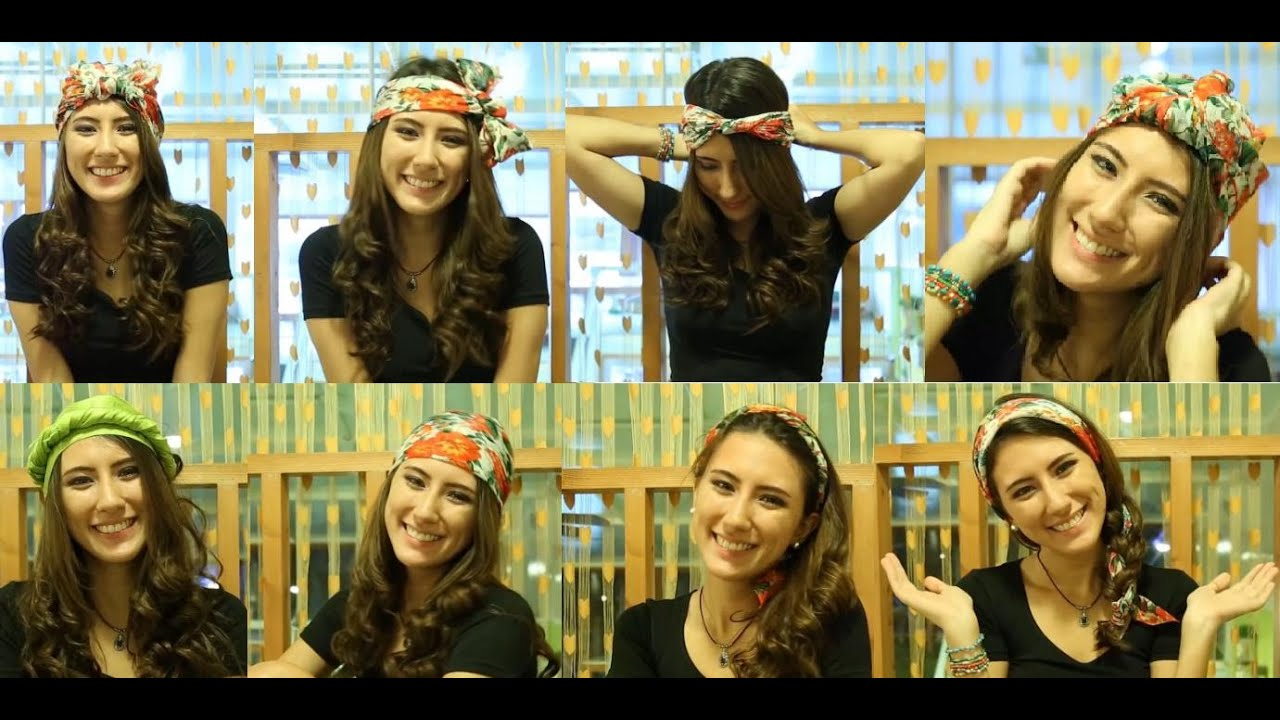 Different Ways To Wear Your Head Scarf Bandana YouTube