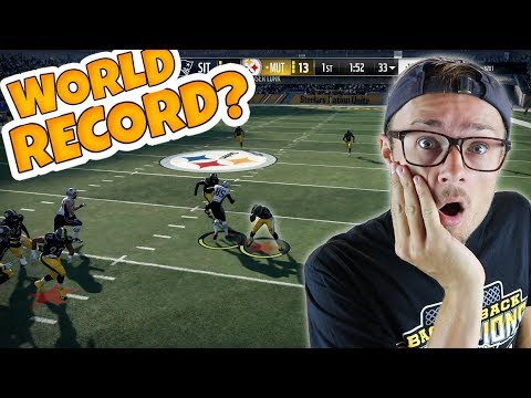Thumbnail: WHAT THE HECK!? DID WE BREAK THIS FIRST HALF WORLD RECORD?? Madden 18 Packed Out