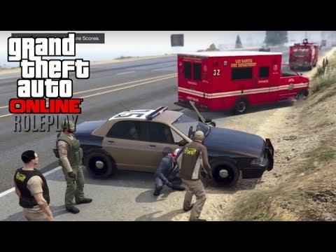 GTA 5: Online Roleplay - Big Crash [Law Enforcement]