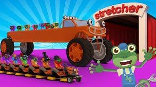 Stretching Trucks With Gecko's Garage | Truck Cartoons For Children