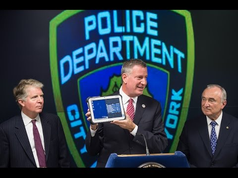 Mayor de Blasio Announces Major Initiative to Enhance NYPD Mobile Communication