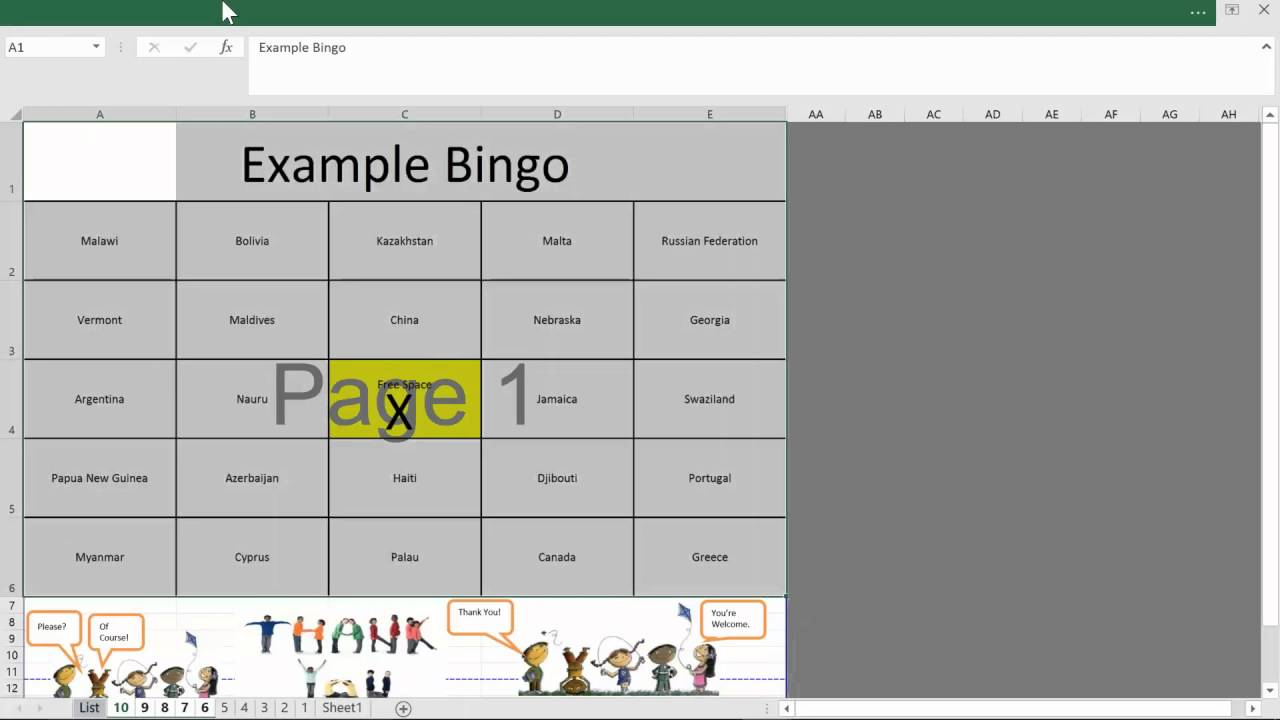 Free Bingo Card Generator For Excel Youtube