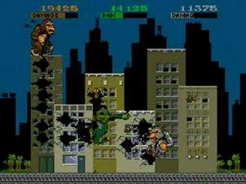 Rampage Arcade 3 Players Game Play Youtube