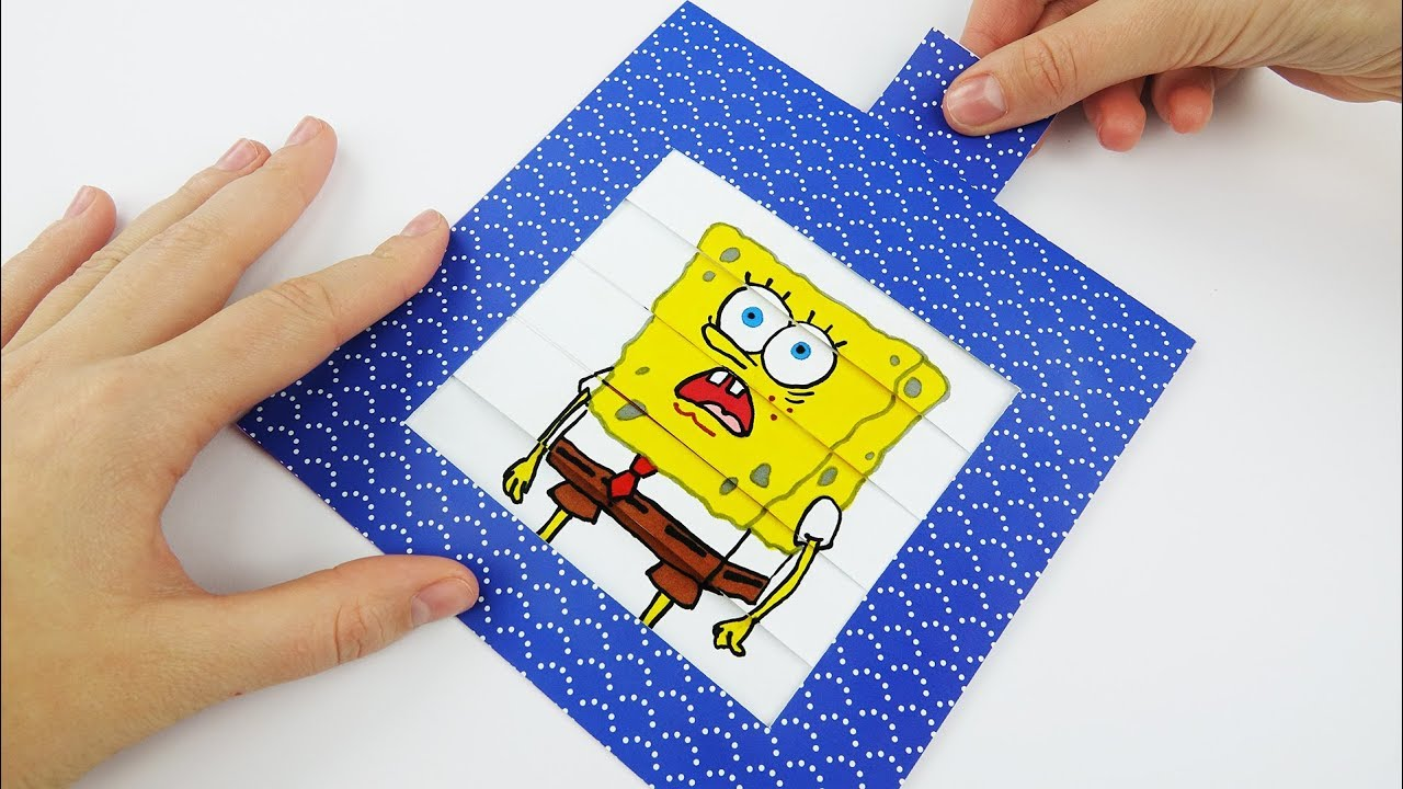 SpongeBob Emoji DIY Animated Card - YouTube
