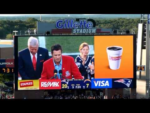Drew Bledsoe being honored at Half-Time 9/18/2011