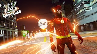 The flash saves people from drones attack ! future flash 2024 (gta 5 ultimate flash mod)