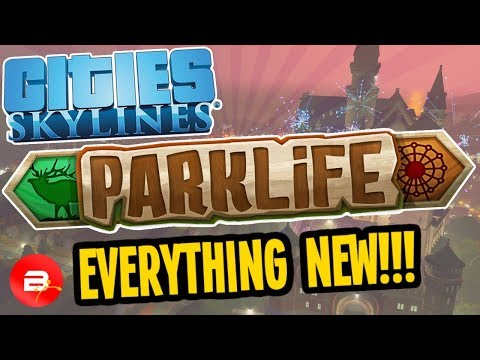 Cities Skylines PARKLIFE - EVERYTHING NEW! Castle of Lord Chirpwick/Zoo/Amusement Park & more!