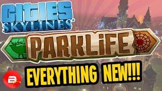Let's Play Cities Skylines Parklife: new amusement park, zoos, natu...