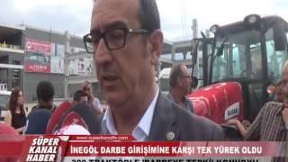300 TRAKTÖRLE 'DARBEYE TEPKİ' KONVOYU