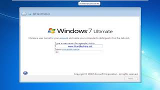 How to install Windows 7! VMWare