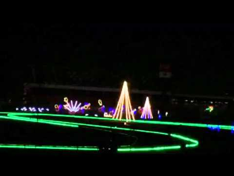 Charlotte Motor Speedway Christmas Lights 2015 Part 2 - YouTube