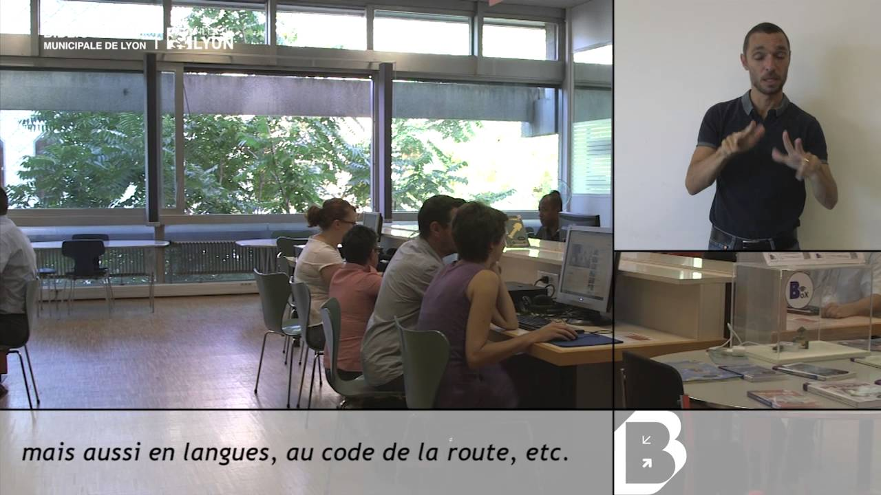 Bibliothèque Ste Foy Les Lyon présentation accessible : espaces numériques - bibliothèque municipale de  lyon