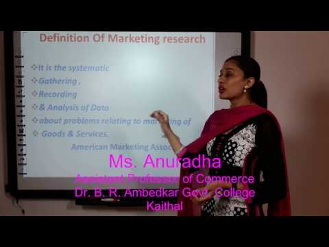Marketing Research: Process & Methods in Hindi under E-Learning Program