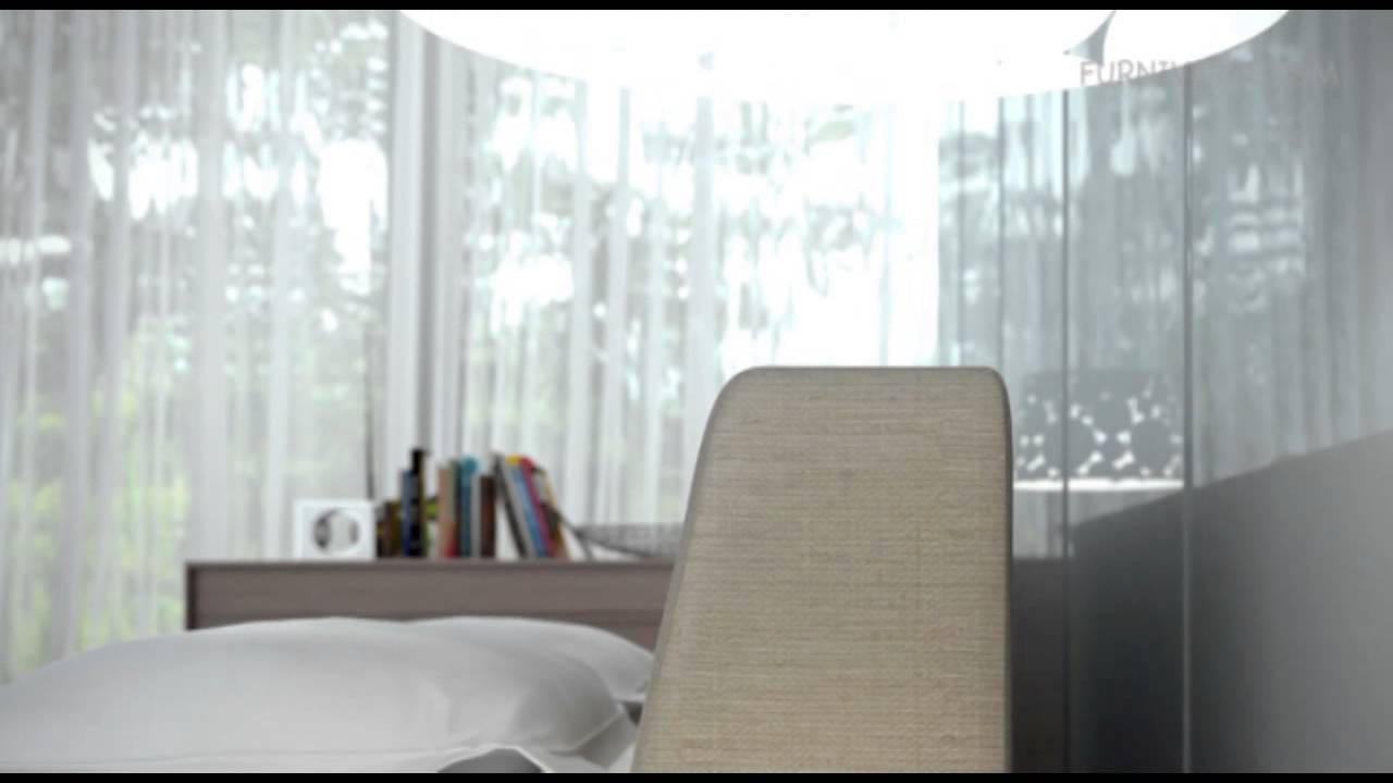jane modern fabric bed - youtube